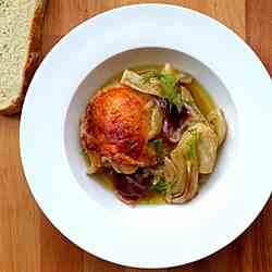 Roasted Chicken with Orange and Fennel