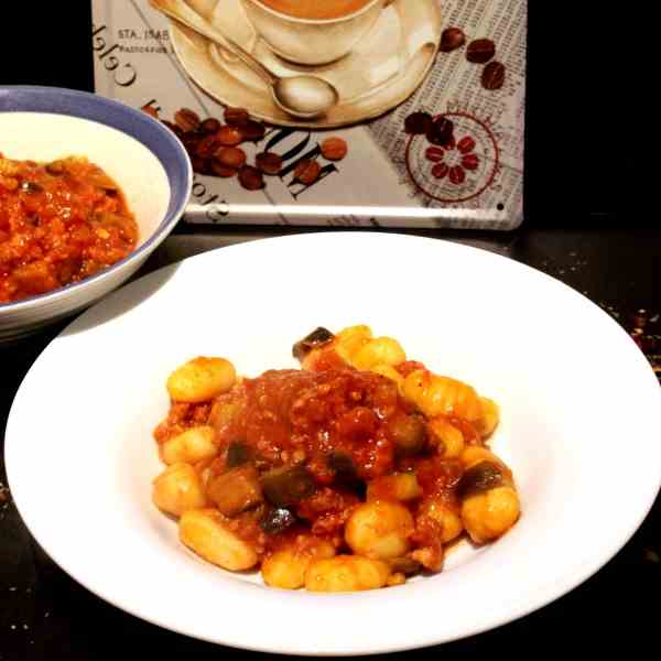 Gnocchi with Chorizo and Eggplant