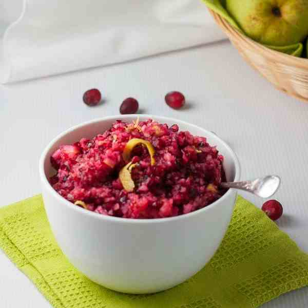Cranberry Lemon and Pear Relish