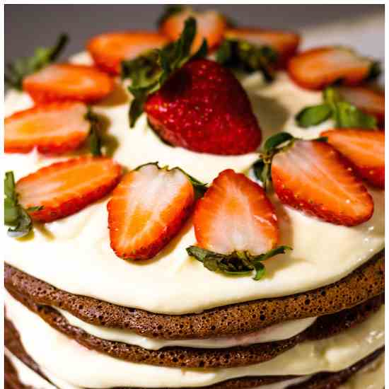 Chocolate Strawberry Stovetop Layer Cake