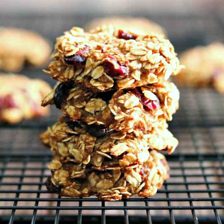 Healthy Cranberry Oatmeal Breakfast Cookie