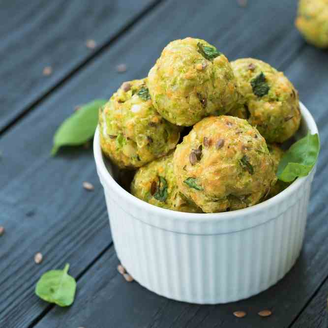 Flourless Air Fryer Mini Courgette Fritter