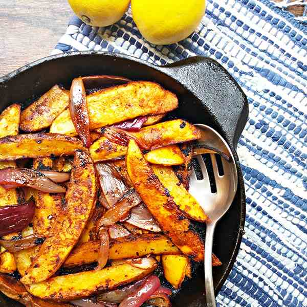 Cajun spiced potato wedges