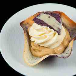 Maple Mousse in Blueberry Lemon Tuile Cup