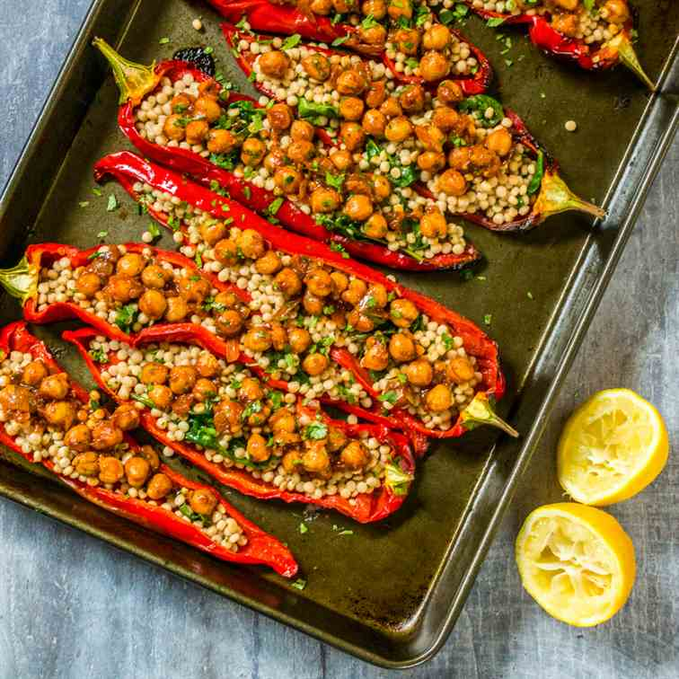Moroccan Stuffed Romano Peppers