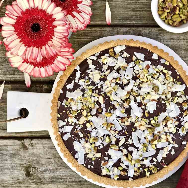 Coconut-Chocolate Almond Tart