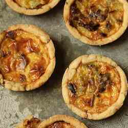 Bleu Cheese and Walnut Tartlets