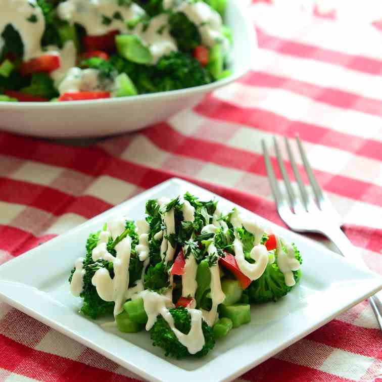 Low-Fat, Mayo-Free Broccoli Salad