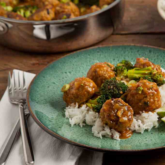 Coconut Curry Turkey Meatball Skillet