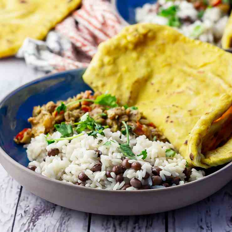 Jamaican Fish Curry With Rice - Peas
