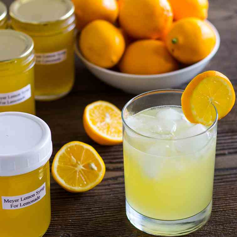 Meyer Lemon Syrup for Lemonade