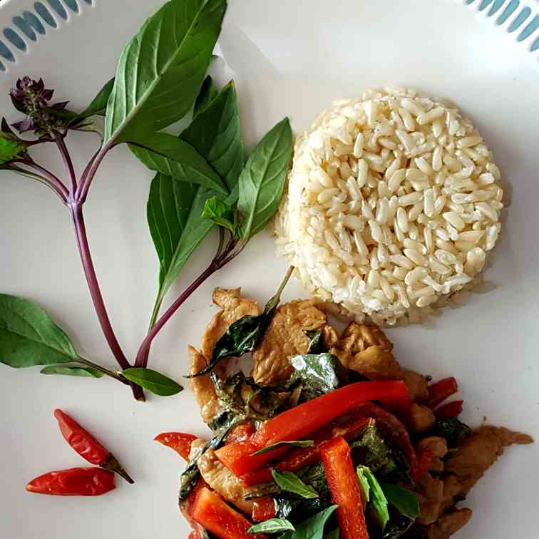 Pad Grapow (Thai Basil Chicken)