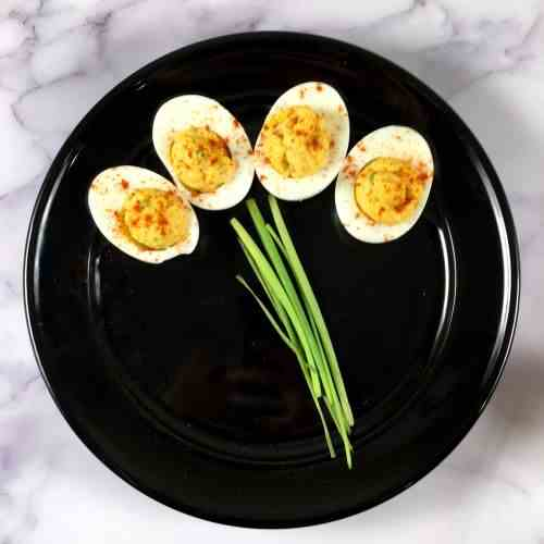 Easiest Deviled Eggs w-Chipotle Lime Mayo