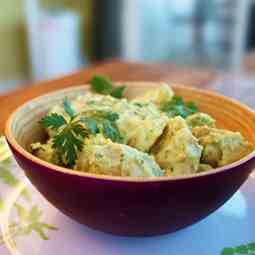 Guacamole Potato Salad with Jalapenos