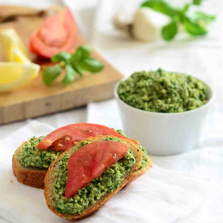 Slimmed-Down, Walnut-Basil Pesto
