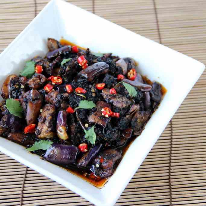 Stir Fried Eggplant in Spicy Chilli Sauce