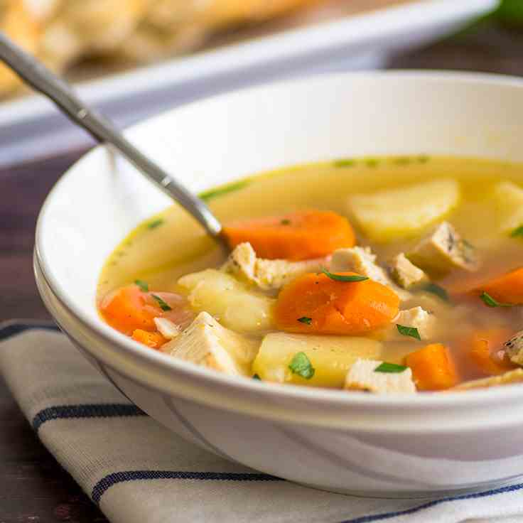 Easy Chicken Peasant Soup
