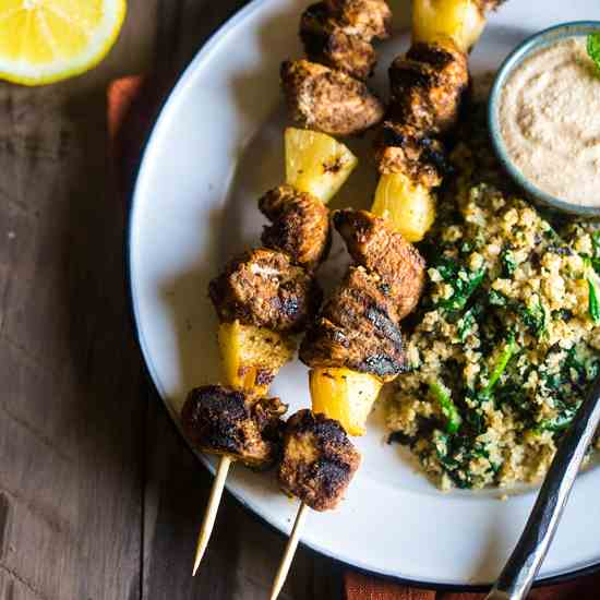 Paleo Indian Chicken Kebabs