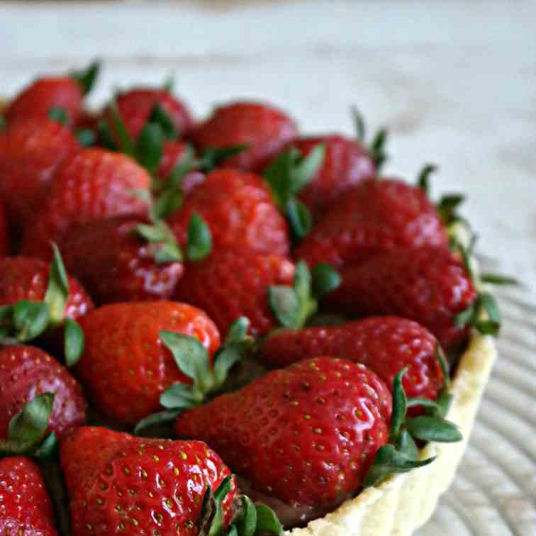 Decadent Nutella and Strawberry Tart