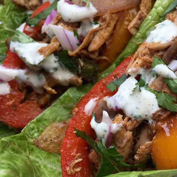 Fajita Chicken Wraps