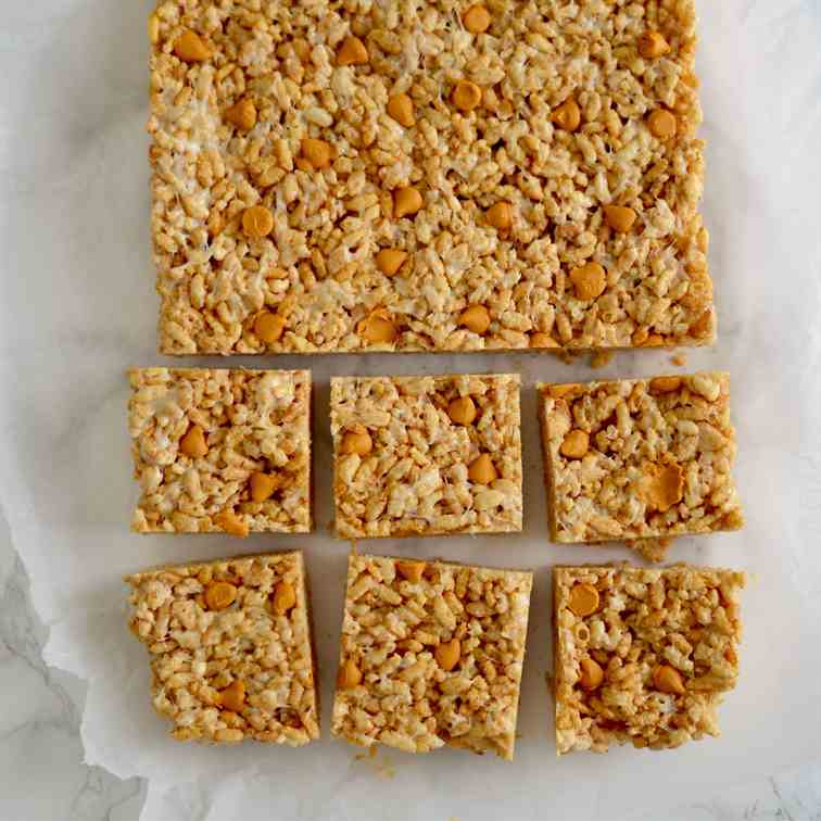 Butterscotch Rice Crispy Squares