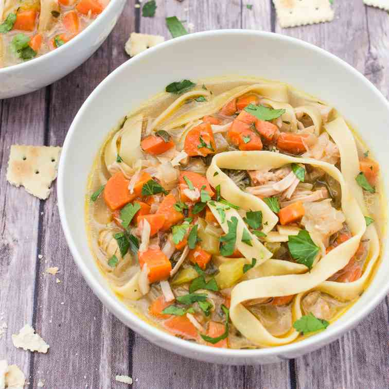 Jackfruit -Chicken- Noodle Soup