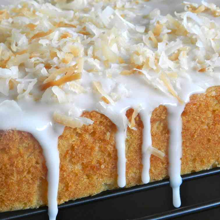 Piña Colada Blondies with a Coconut Glaze