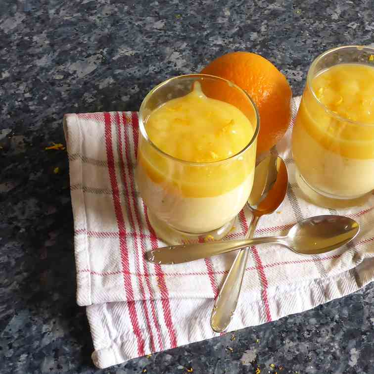 Best orange cream with orange sauce desser