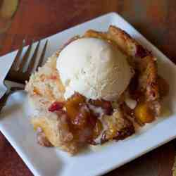Raspberry Peach Cobbler