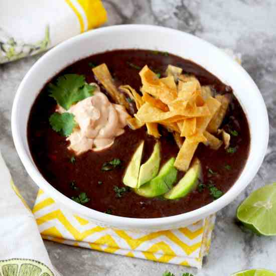 Black Bean Soup with Chipotle Crema