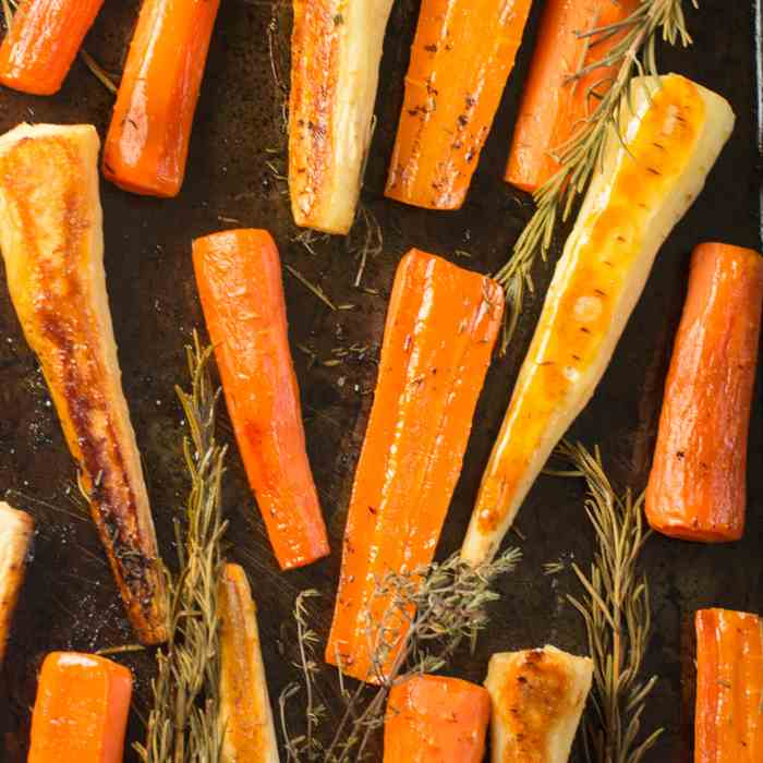 Honey Roasted Carrots and Parsnips