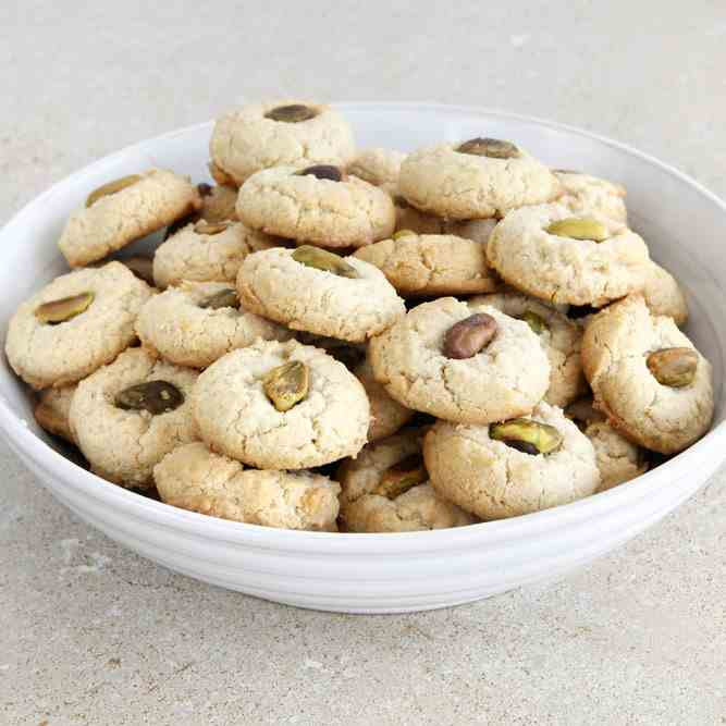 Tahini Cookies with Pistachios