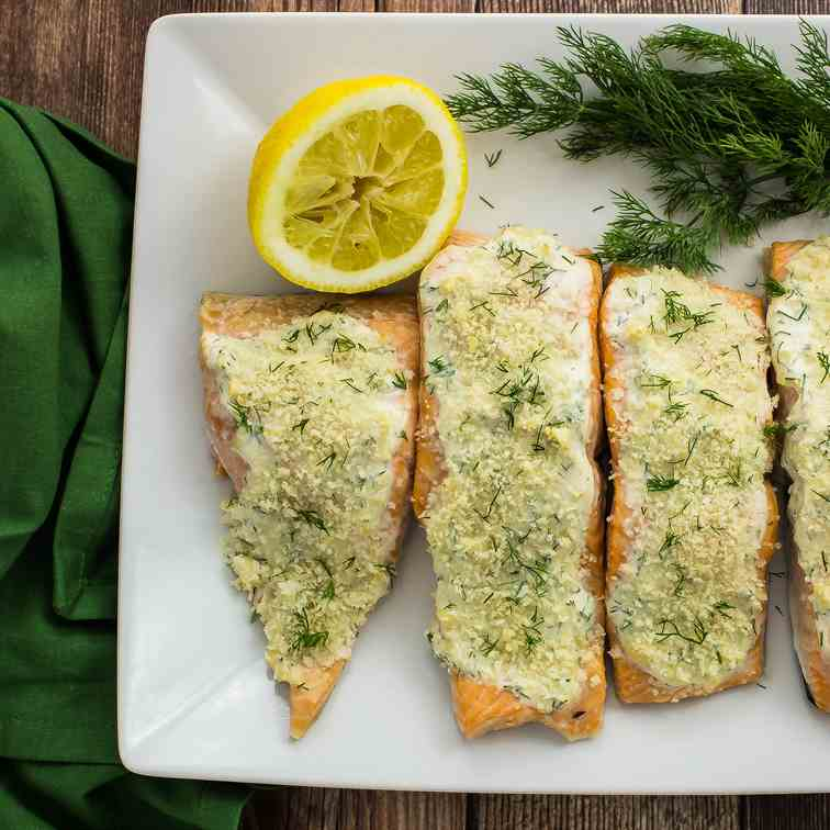 Lemon Dijon Crusted Salmon
