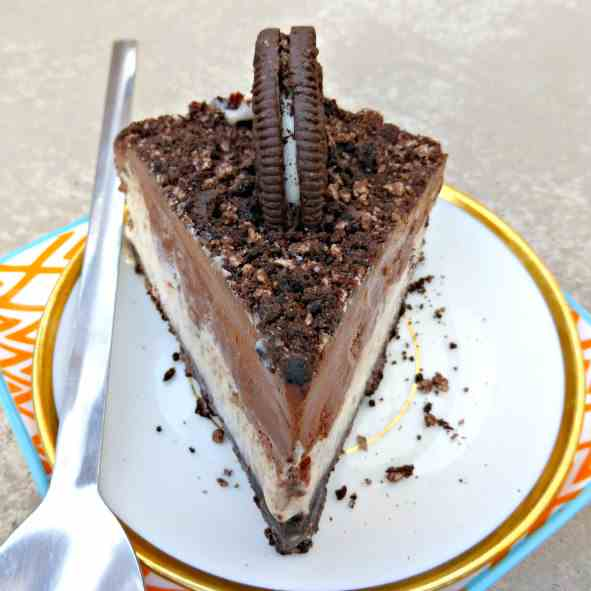 Oreo and White Chocolate Pie