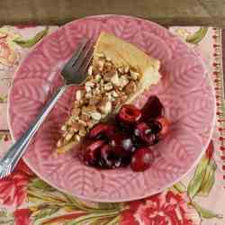 Honey Almond Tart with Cherries