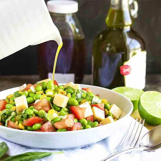 Toasted Corn and Edamame Salad
