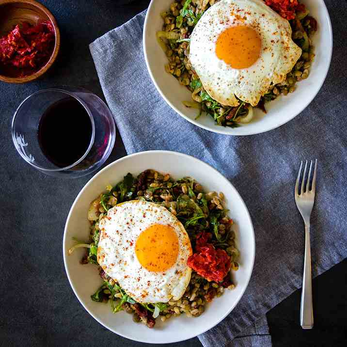 Easy Lentil Bowl with Sunny Egg