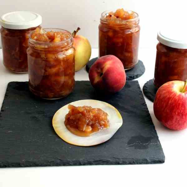 Apple-Peach Chutney