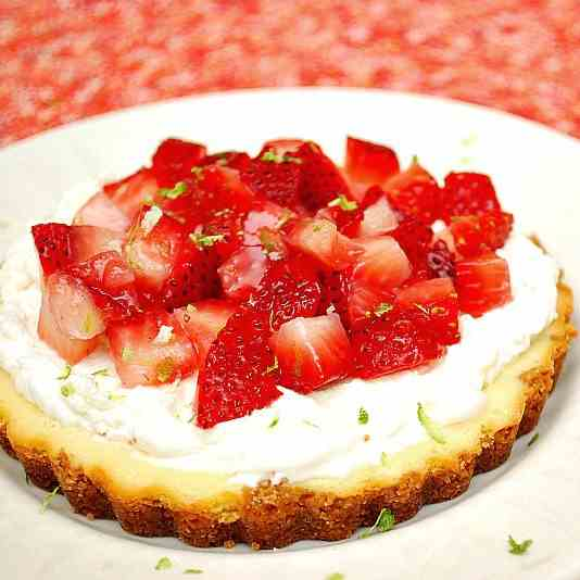 Strawberry Margarita Cheesecake Tarts