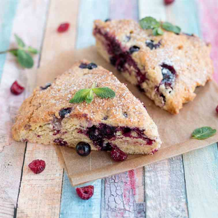 Air Fryer Cranberry Scone Bread