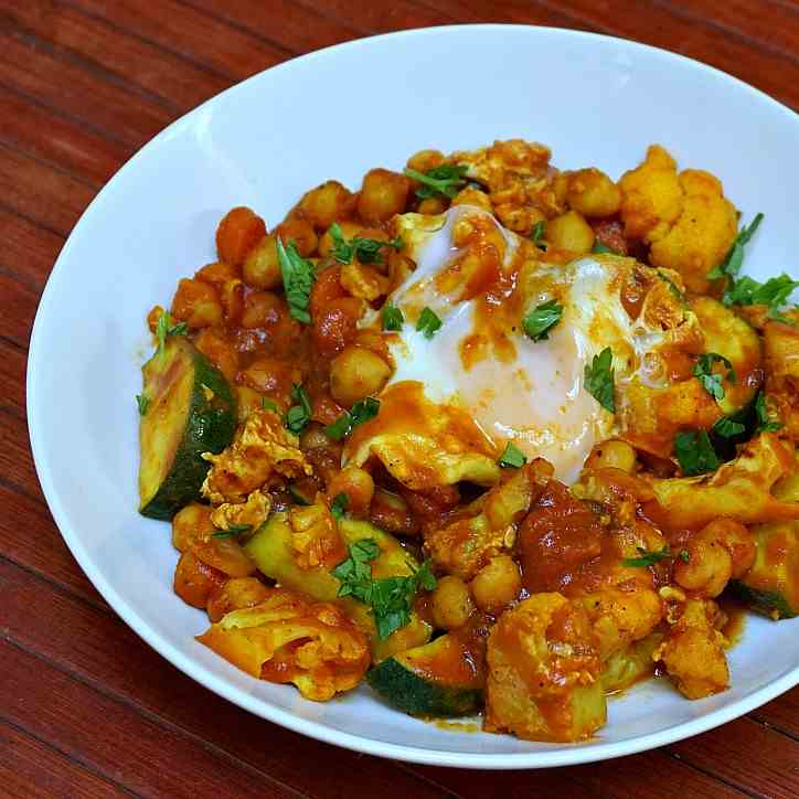 Curried Vegetables in a Tomato Gravy with