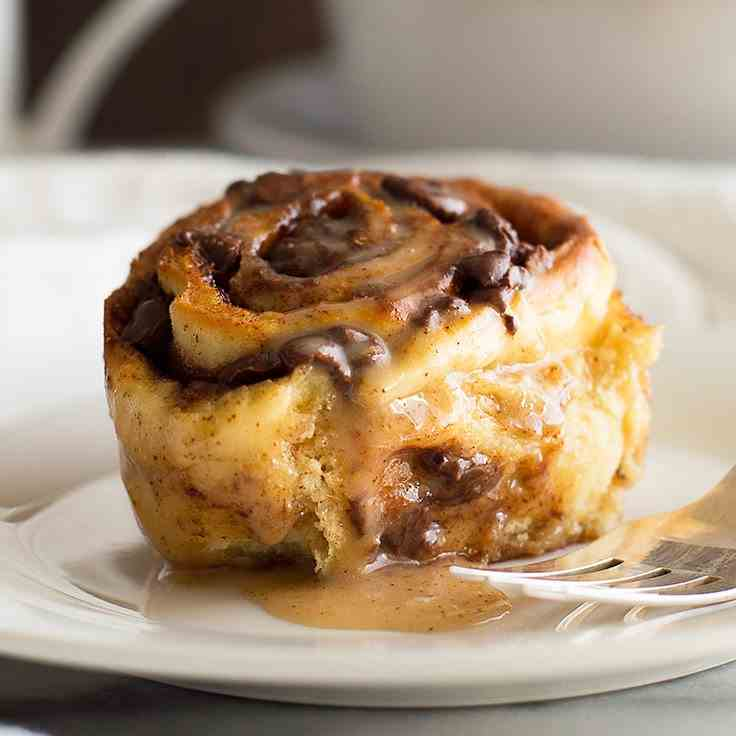Small-batch Chocolate Cinnamon Rolls