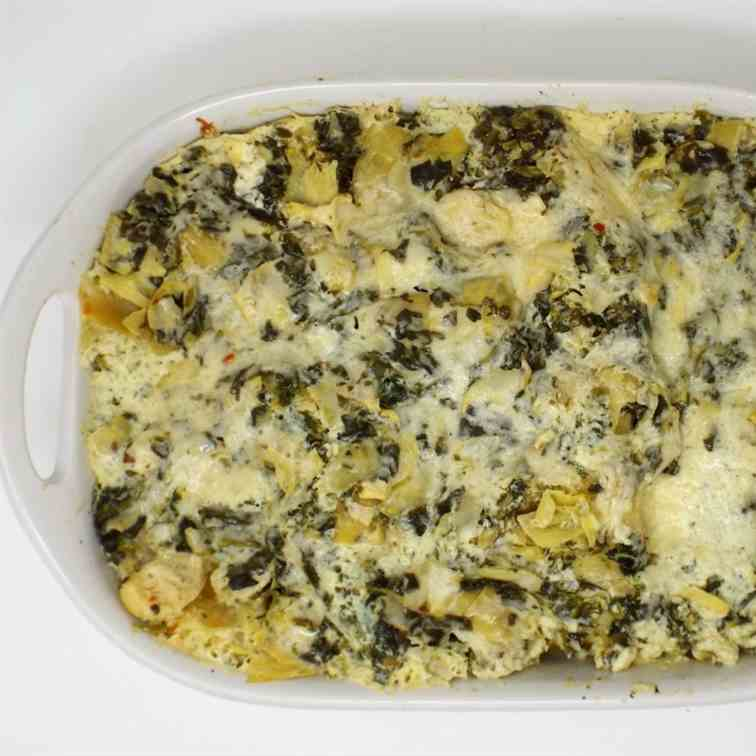 Cheesy Spinach and Artichoke Lasagna