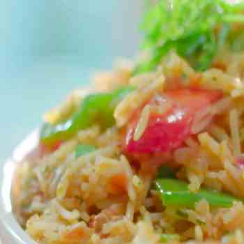 How to make Schezwan Tawa Pulao