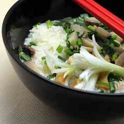 Fish bone soup rice