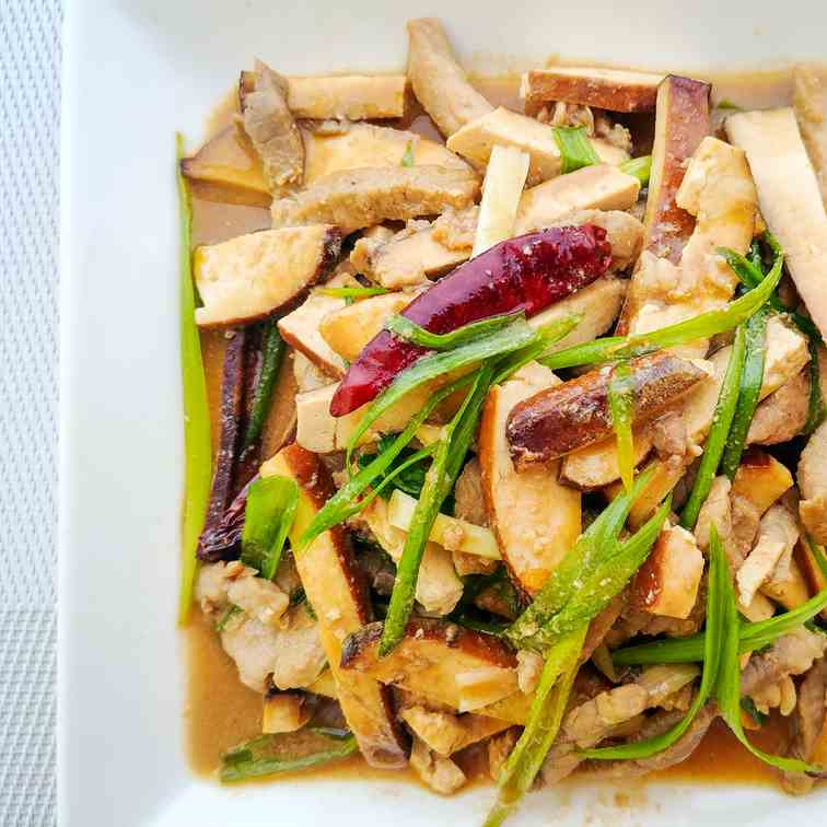 Pork and Bean Curd Strips