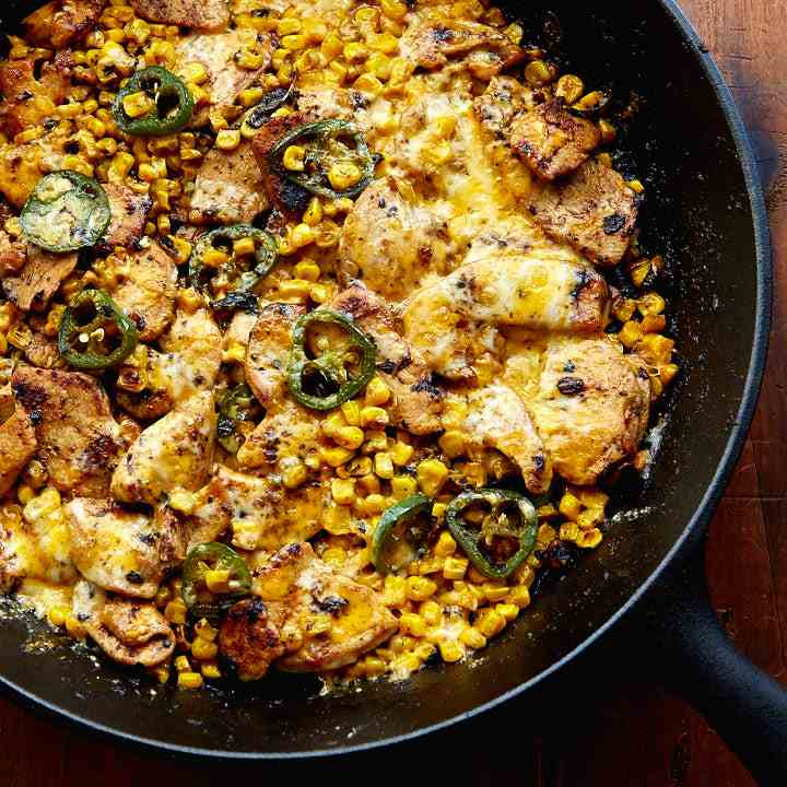 Mexican Chicken with Jalapenos and Corn