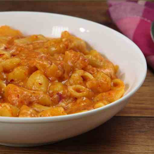 Pasta with Nduja and Potatoes