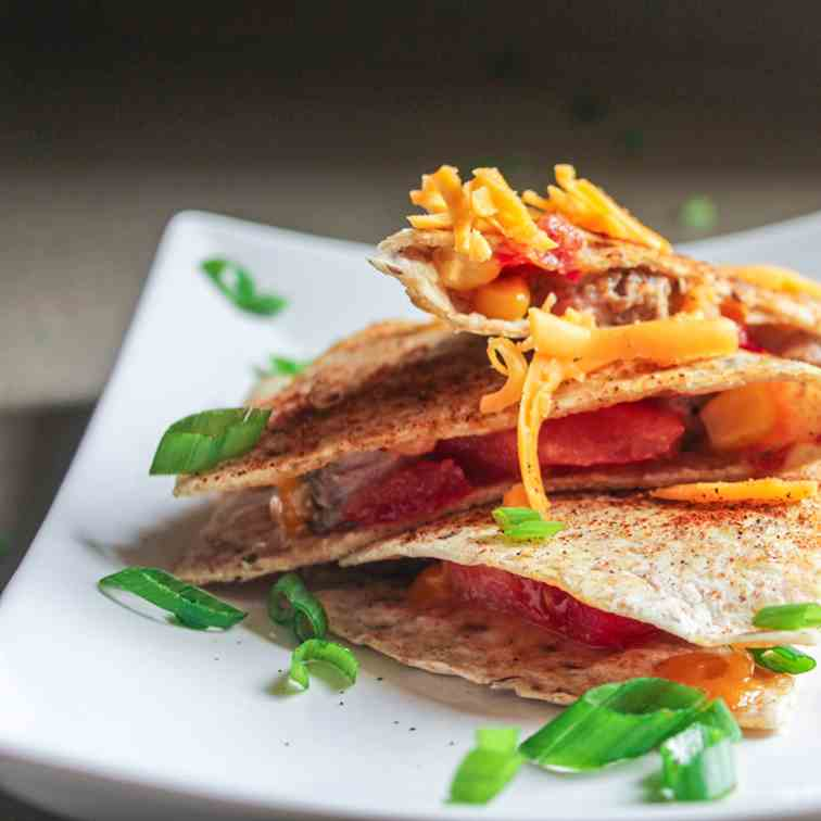 Steak and Corn Quesadilla