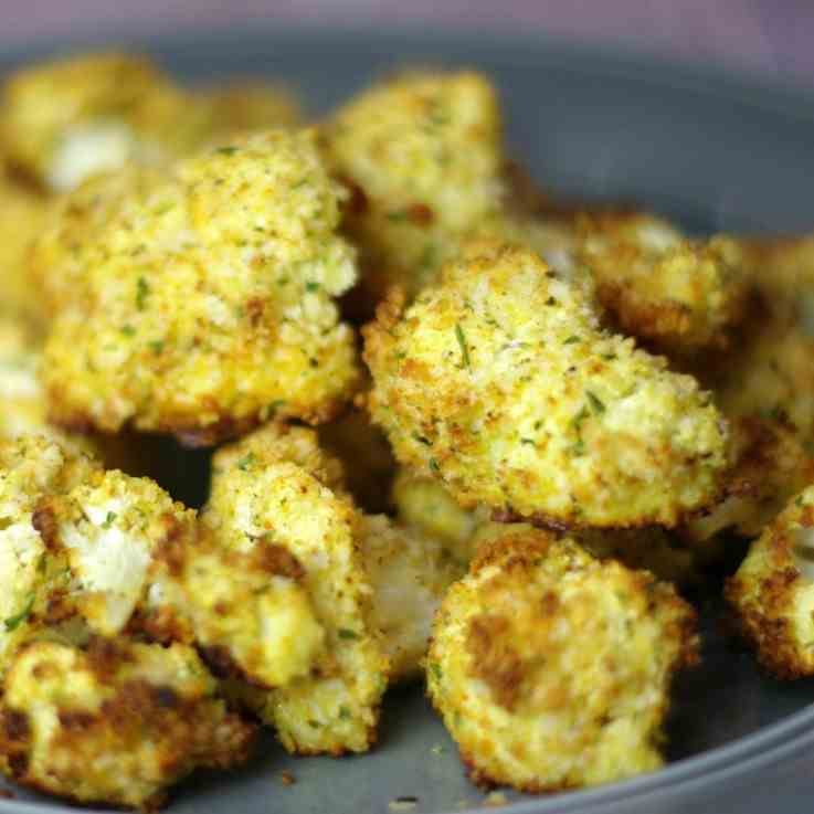Roasted Cauliflower with Panko and Parmesa